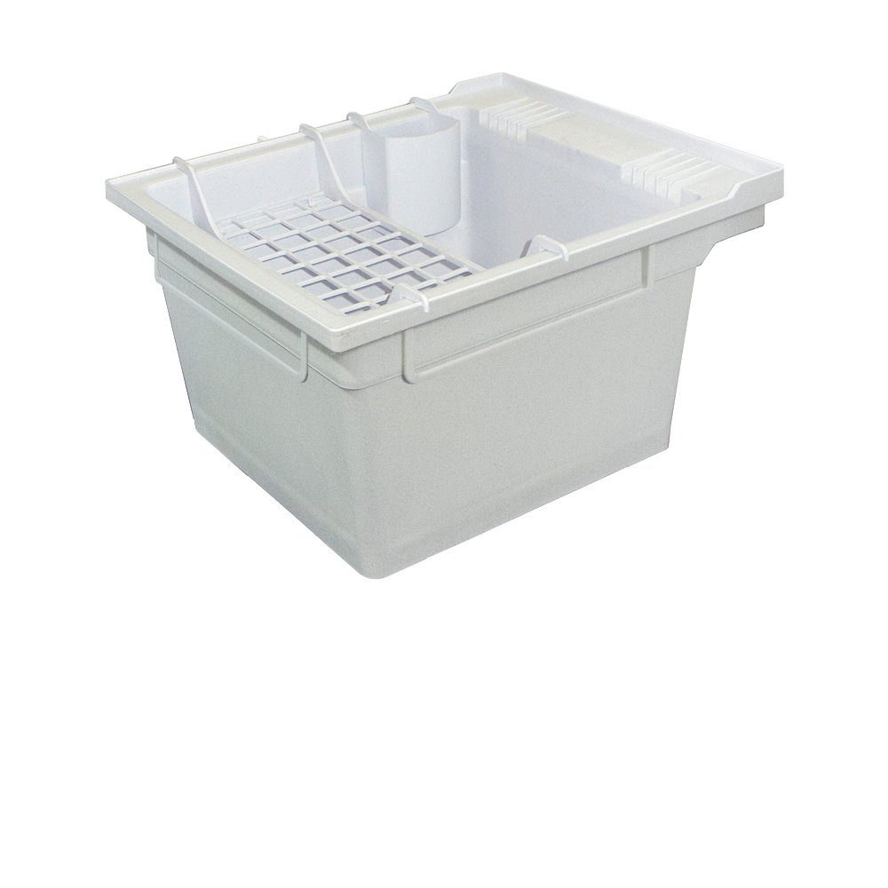 Samson SM-19-WA Wall-Mounted Laundry Tub 22.375-In W x 26-In D x 14-In H with Accessory Kit, color-Granite Gray