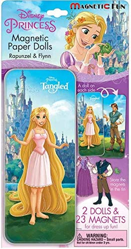 and Sleeping Beauty Magnet Paperdoll Tins with Beauty and The Beast Lee Publications Disney Princess Magnetic Activity Set 3 Pack for Girls Tangled