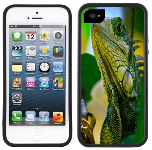 Iguana   Handgefertigt   iPhone 5 5s   Schwarze Hülle