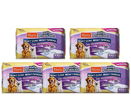 Hartz Home Protection Lavender Scent Odor Eliminating Gel Dog Pads - 500 Count