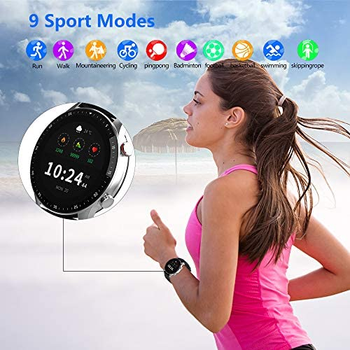 Pewant Fitness Tracker Smart Watch,IP68 Waterproof Activity Tracker Smart Watch TWS Music Play with Heart Rate Blood Pressure Message Alerts Call Reminder Smartwatch for Men Kids,Bluetooth Touch Screen Sport Watch 4