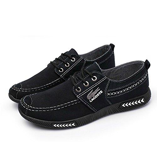 Bleu MDFY en Element 40 Caoutchouc noir 44 Super 42 Classique à Gris Kaki Chaussures en Couleur Toile CN Soft B Semelles 41 43 Coudre Taille 39 Coutures à Hommes Mocassins Flats rfwxYqrBI