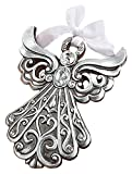 Silver Angel Ornament with Antique Finish from Fashioncraft
