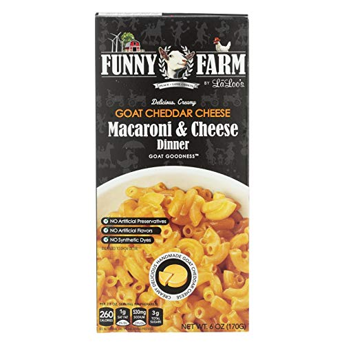 (FUNNY FARM, Mac N Chs, Goat Cheddar, Pack of 12, Size 6 OZ)