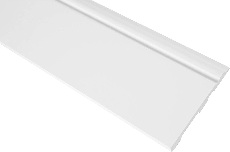 Fu/ßleiste 120x15mm CR941 2 Meter Sockelleiste aus PU sto/ßfest /& hard Grand Decor