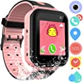 Waterproof GPS Tracker Watch for Kids - IP67 Water-Resistant Smartwatches Phone with GPS/lbs Locator SOS Camera Voice Chat Games for Back to School Children Boys Girls