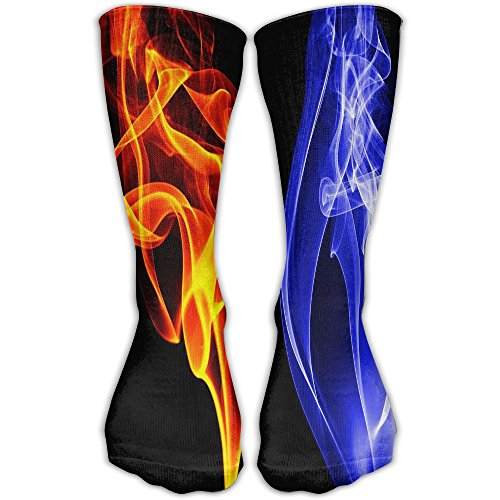 Men Women Flame Braze Colorful Premium Ankle High Socks Athletic Soccer Crew Tube Sock Stockings Sports Outdoor ()
