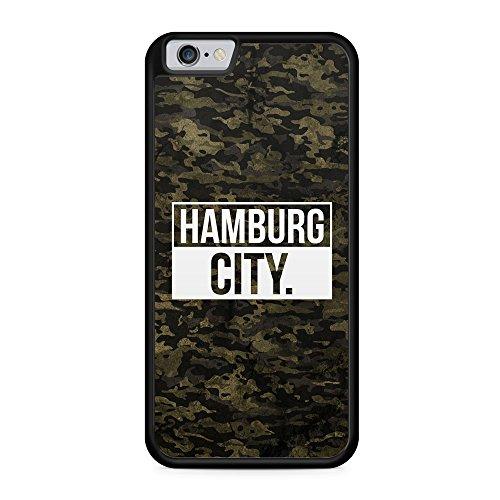 Hamburg City Camouflage - Hülle für iPhone 6 & 6s SILIKON Handyhülle Case Cover Schutzhülle Hardcase Schale   Coole Bedruckte Design Geile Deutschland Militär Military Städte Hülle