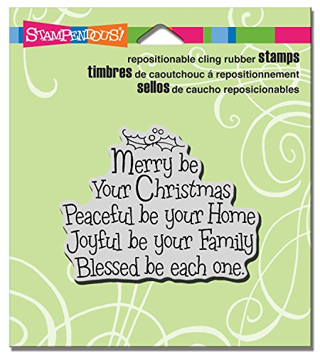 STAMPENDOUS CRV325 Cling Rubber Stamp, Merry Be by STAMPENDOUS