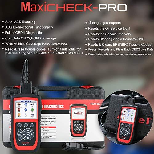 Autel MaxiCheck Pro Diagnostic Tool for ABS Brake Auto Bleed, Oil Service, ABS, SRS, BMS, DPF, EPB Service, SAS, Oil Light/Service Reset Scanner by Autel (Image #6)