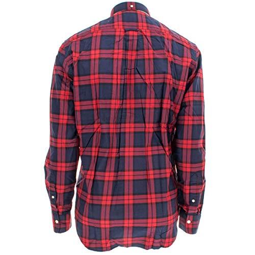 Regular de Gant Tartan Vino Wine Chaqueta Winter Hombres fit Camisa p5wax6Fqw