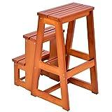 COLIBROX--Wood Step Stool Folding 3 Tier Ladder