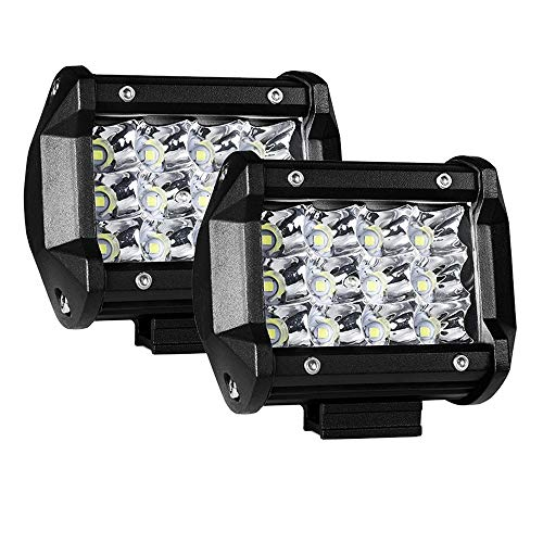 AUXTINGS 2PCS 4 inch 36W Triple Row 7D Lens Spot LED Light Bar Waterproof LED Work Diving Lights for Off Road Jeep ATV AWD SUV 4WD 4x4 Pickup hot sale