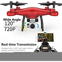 Sympath Altitude Hold SMRC S10W-G 120°Angle Quadcopter Drone 720P Camera Helicopter Red