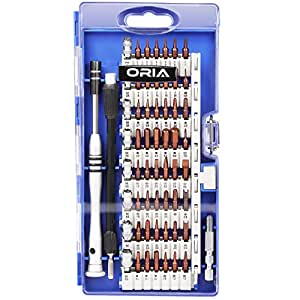 ORIA Precision Screwdriver Set, S2 Steel Magnetic Driver Kit, 60 in 1 Professional Electronics Repair Tool Kit for iPhone 7/ Cell Phone/ iPad/ Tablet/ PC/ MacBook and Other Electronics Devices