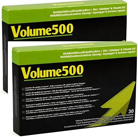 VOLUME500: Increase the quantity and quality of sperm (double pack)