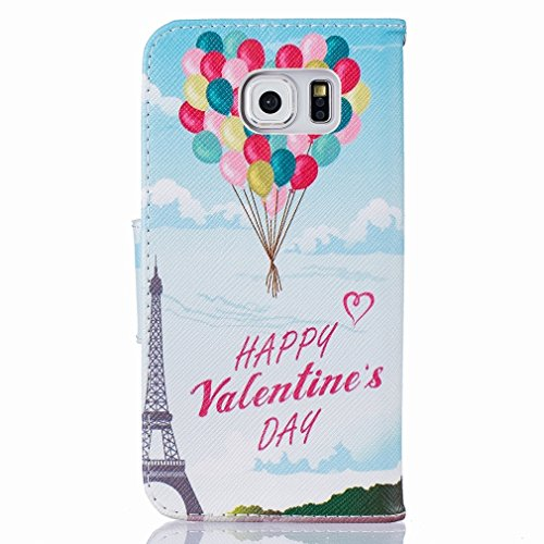 Premium Galaxy R Stand And Shell Pu Tower Slim S6 Bumper Cover Balloons Leather Case Cover Protective Transmission G9200 Housing Wallet Cover Design Shell Samsung Flap Flip Yiizy Leather Case G9208 wxqSHCSft