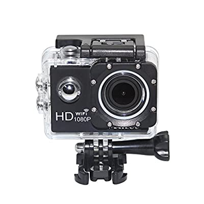 Matego Sports Action Camera WiFi Wireless Waterproof Camera 1080P Video Resolution 12MP Photo Resolution 1.5 Inch Screen 150 Degree Wide-angle Lens from Eagle Empire