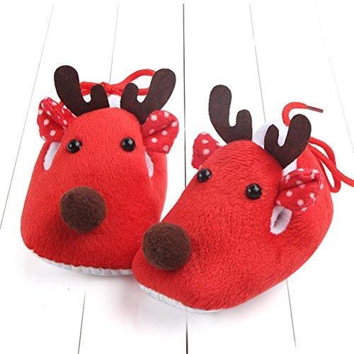 LONUPAZZ Anti Slip Chaussures Sneakers Enfants Bébé Garçon Fille Noël Chaussures Semelle Souple Chaussons (0-6 Mois)