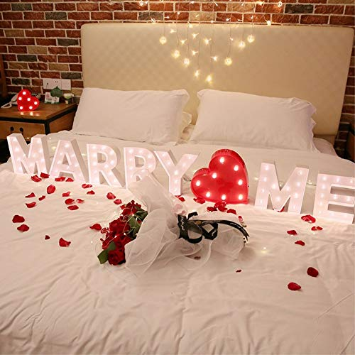 Led Letter lamp Birthday Party Decoration lampLove lamp Creative Marriage Proposal White Light, I Miss -