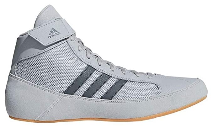 ca21484a8902a adidas Men's Boy's HVC2 Wrestling Mat Shoe Ankle Strap (Light Gray ...
