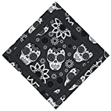 dog bandana sewing pattern - Bandana - Pirate Bandana Skull Cowboy Headband For Men Women, Not Fade(25