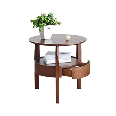 Amazon.com: SACKDERTY Round Side End Tables-Modern and ...