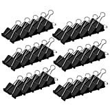 #5: Black Binder Clips,Extra Large,2 inch (30-Pack), Binder Clips Paper Clamps for Office/School Supplies
