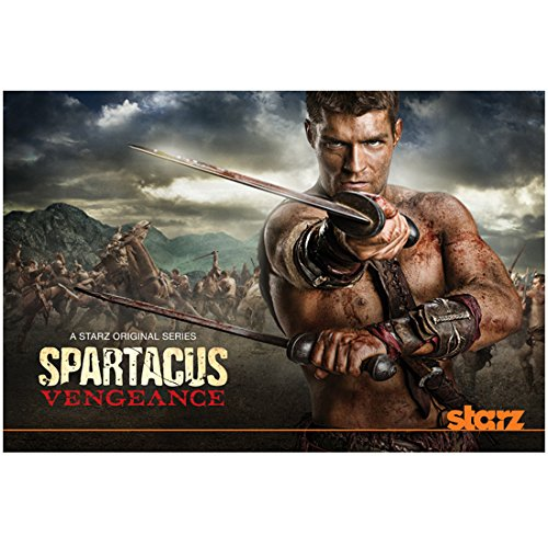 Spartacus: Vengeance 8 inch x 10 inch PHOTOGRAPH Liam McIntyre Holding 2 Bloody Swords Starz Poster kn