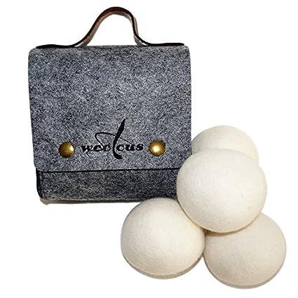 woolous – Pelotas de lana de Nueva Zelanda de oveja merina orgánica no tóxico, reutilizable