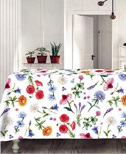 Tag House - Servicio de mesa mantel + servilletas rectangulares de 6 – 8 – 12 100% puro algodón cm 150 + 270 + 12 tovaglioli Aster - 3778: Amazon.es: Hogar