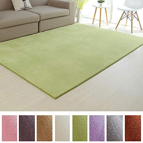 - Affordable Shaggy Rug Cozy & Soft Kids Thicken Area Rug Solid Color Green Children's Play Area, Bedroom Nursery Carpet 5 Feet x 7 Feet (5' x 7')