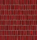 Bedrosians GLSRETROURMP ''Retrospect'' Mosaic with Random Pattern, 12'' x 13'', Rouge
