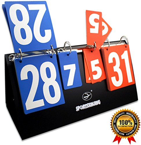 SPJ: Scoreboard Portable Tabletop Multi Sports Games Set Score (7 set / 31 score) (Outdoor Electronic Scoreboard)