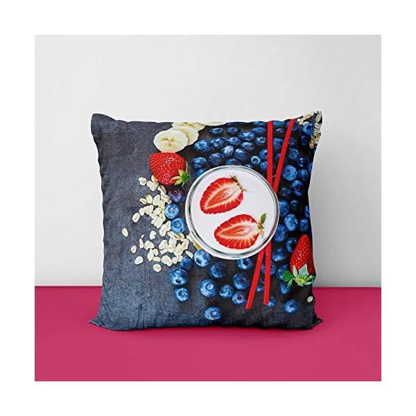 51pjUp QoVL Blueberry-Fruit Square Design Printed Cushion Cover