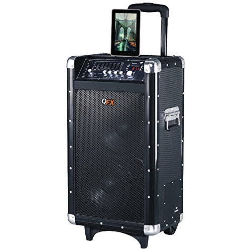 QFX PBX-3080BT Rechargeable Bluetooth Party PA Speaker  elec