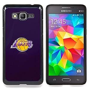 - L A Laker Basketball - - Cubierta del caso de impacto con el patr??n Art Designs FOR Samsung Galaxy Grand Prime G530H G5308 Queen Pattern