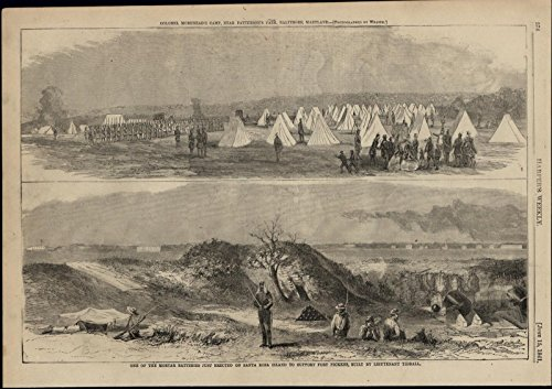 Rosa Island Morehead Camp 1861 great old print for display ()