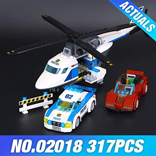 PampasSK Blocks - 02018 City Police High-Speed Chase 02017 Mobile Police Station Set Building Blocks BricksToys 60138 60139 1 PCs