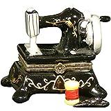 Sew Seamstress Sewing Machine Hinged Trinket Box phb