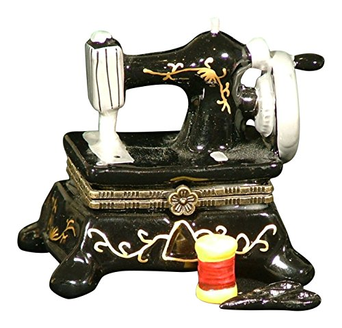 Sew Seamstress Sewing Machine Hinged Trinket Box phb - Limoges Trinket Box Porcelain