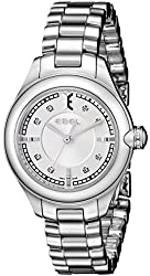 EBEL Women's 1216092 Onde Stainless Steel Watch with Diamond Markers