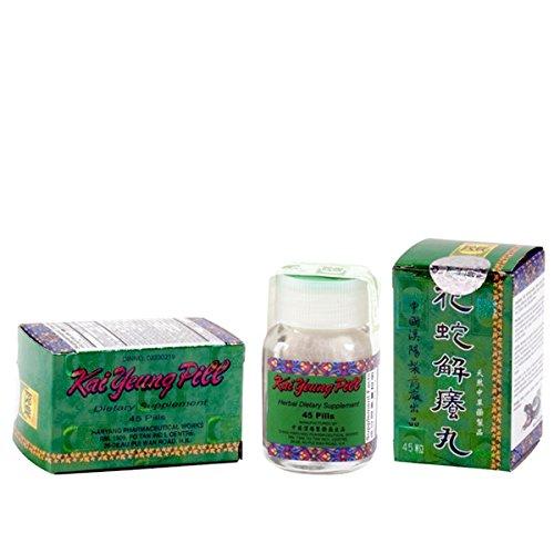 漢陽花蛇解癢丸 Kai Yeung Pill (Astragalus, for Skin, Blood, Circulatory & Immune)- Herbal Supplement-45 Pills x3pk