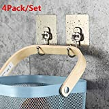 Weiliru Wall Mounted Entryway 1-10 Hooks for Jacket, Coat, Scarf, Hat, Leash, Keys Bathroom Hools