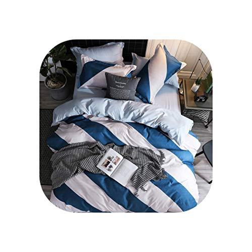 Bedding Set Fashion Luxury Stars Home Textile Duvet Cover Bed Linen Sheet Soft Comfortable 3/4pcs King Queen Full Twin Size,B2,Sold 1 Pillowcase,Flat Bed Sheet ()