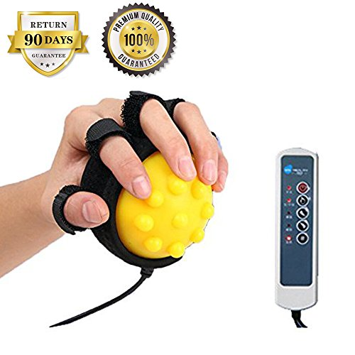 Hand Massage Machine - Healsmile® Electric Hot Compress Stroke Hemiplegia Finger Recovery Equipment Hand Training Electric Fingers Massager 110V-220V Infrared Therapy Finger Passive Training