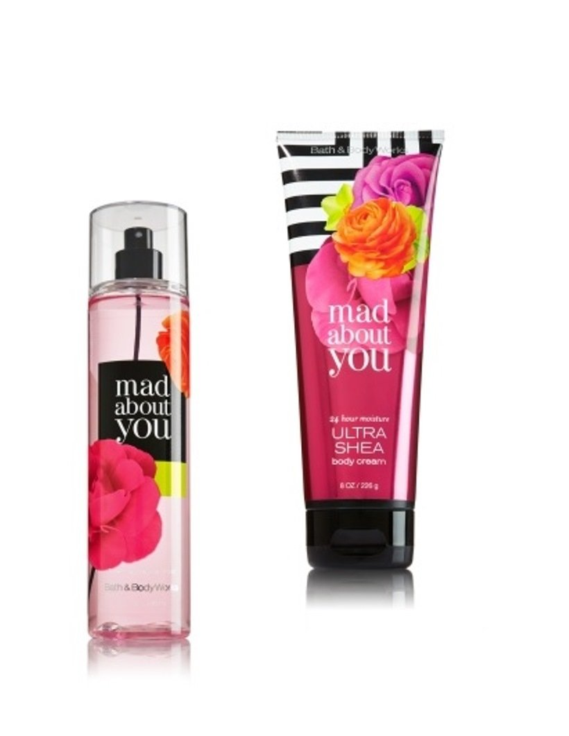 Bath & Body Works - Signature Collection –mad about you - Gift Set- Fine Fragrance Mist & Ultra Shea Body Cream