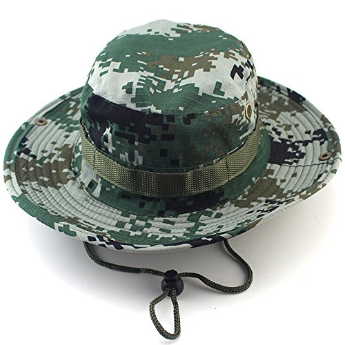 a6f075784fd16 MAIYU Boonie Hat Military Waterproof Cap Woodland Camo Fishing Bucket Hat  With String Snap Brim Hat Alternative Color - Buy Online in Oman.