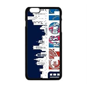 Detroit Pistons NBA Black Phone Case for iPhone plus 6 Case