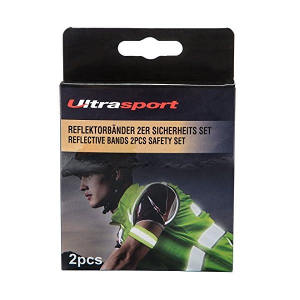 Ultrasport Paquete de 2 Bandas Reflectantes con Velcro: Seguridad en Cualquier Actividad al Aire Libre, Unisex, Amarillo neón, OS 2